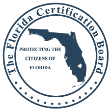 Florida Certification Board logo.