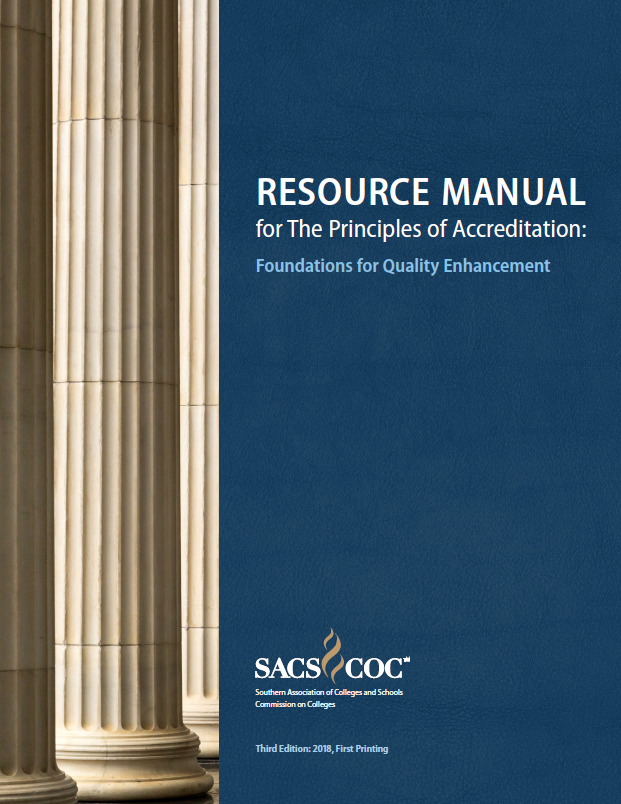 Principles of Accreditation Resource Manual textbook