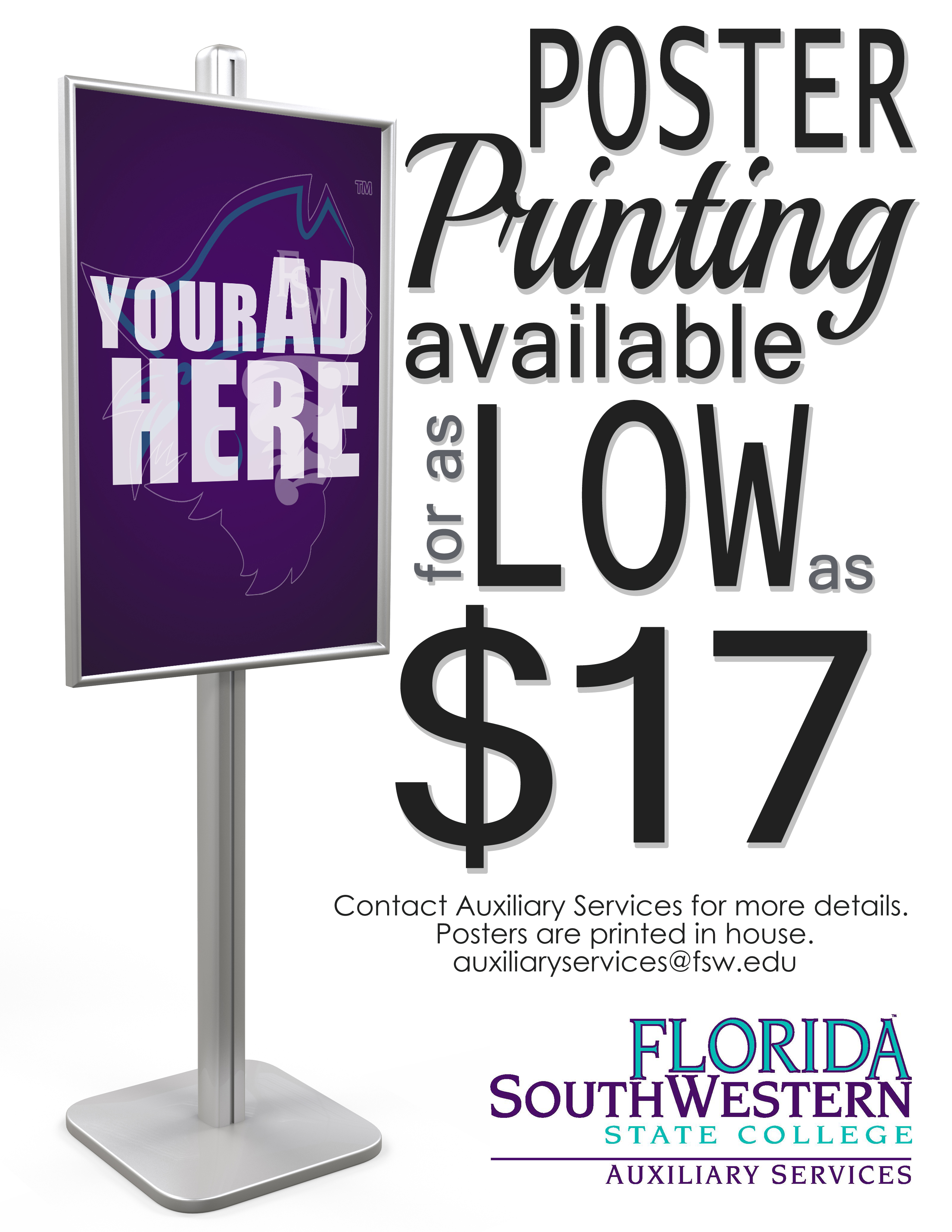 Advertisement for printing services