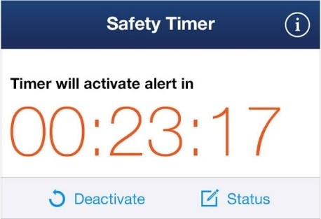 safety timer screenshot