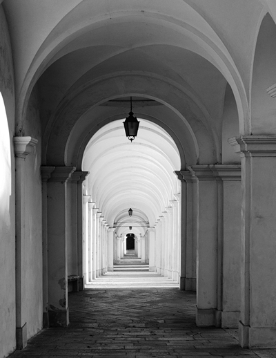 Villa Cornaro looking down internal corridor.