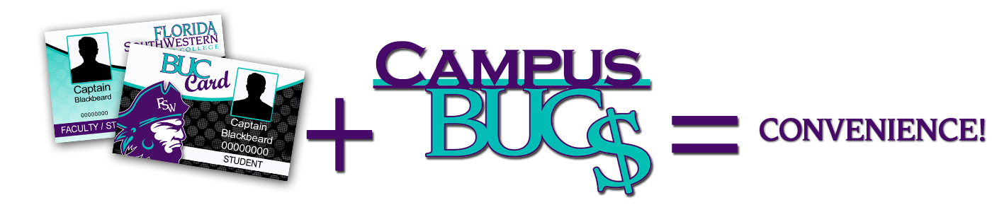 Buc card plus campus bucs equal convenience!