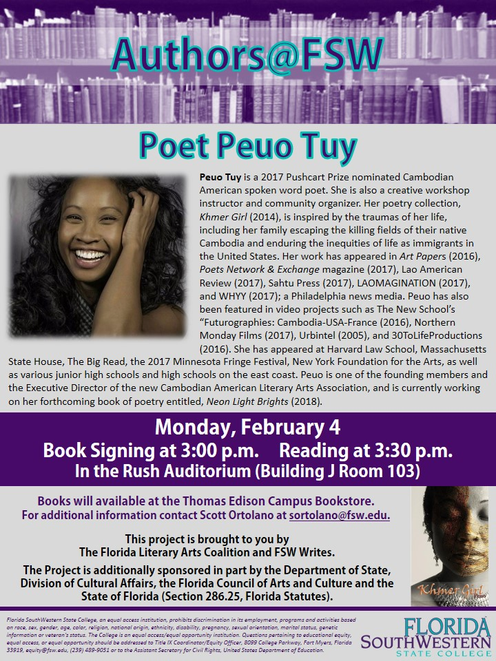 View the Peuo Tuy, poet, flier.