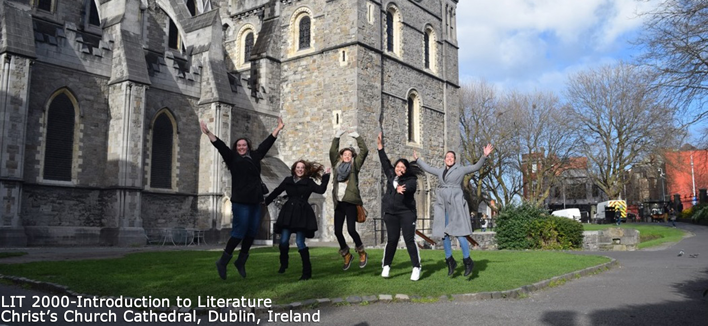 LIT 2000 - Introduction to Literature class at Christ's Church Cathedral, Dublin, Ireland