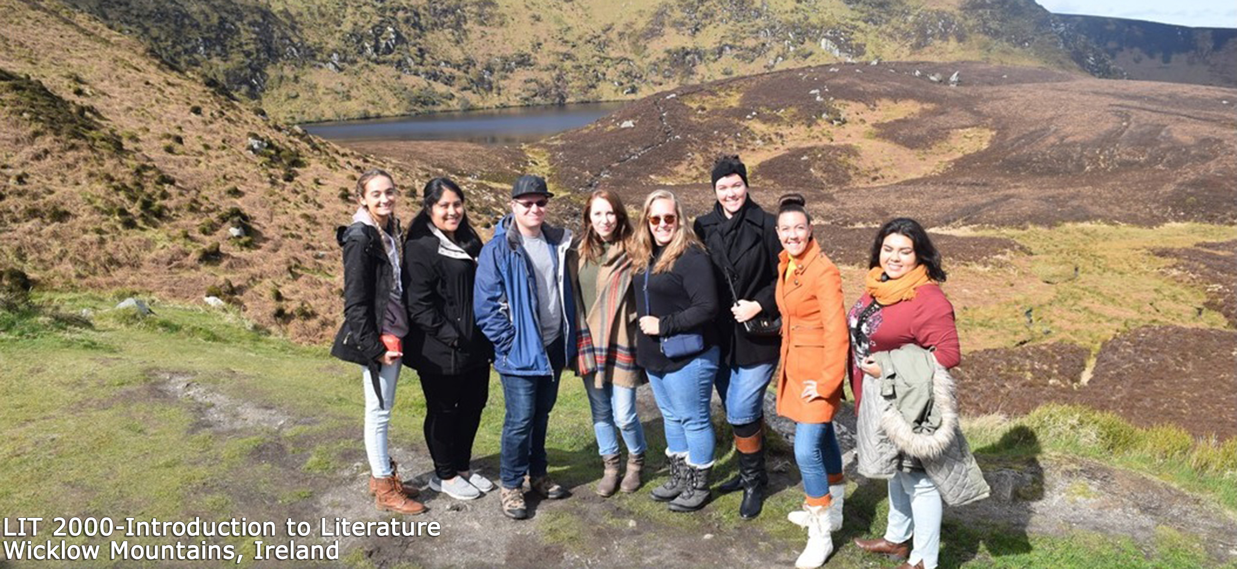 LIT 2000 - Introduction to Literature class at Wicklow Mountains, Ireland