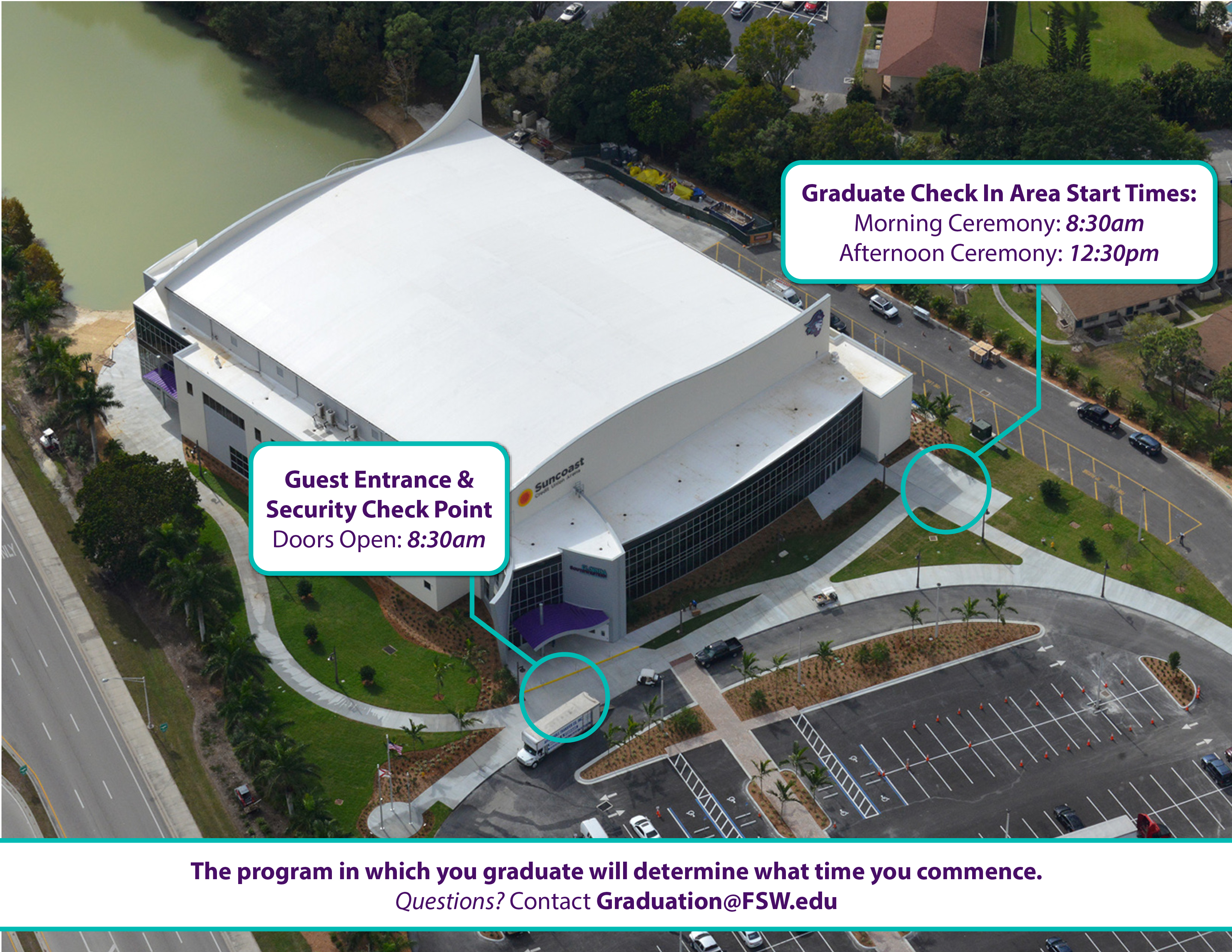Commencement Aerial Map