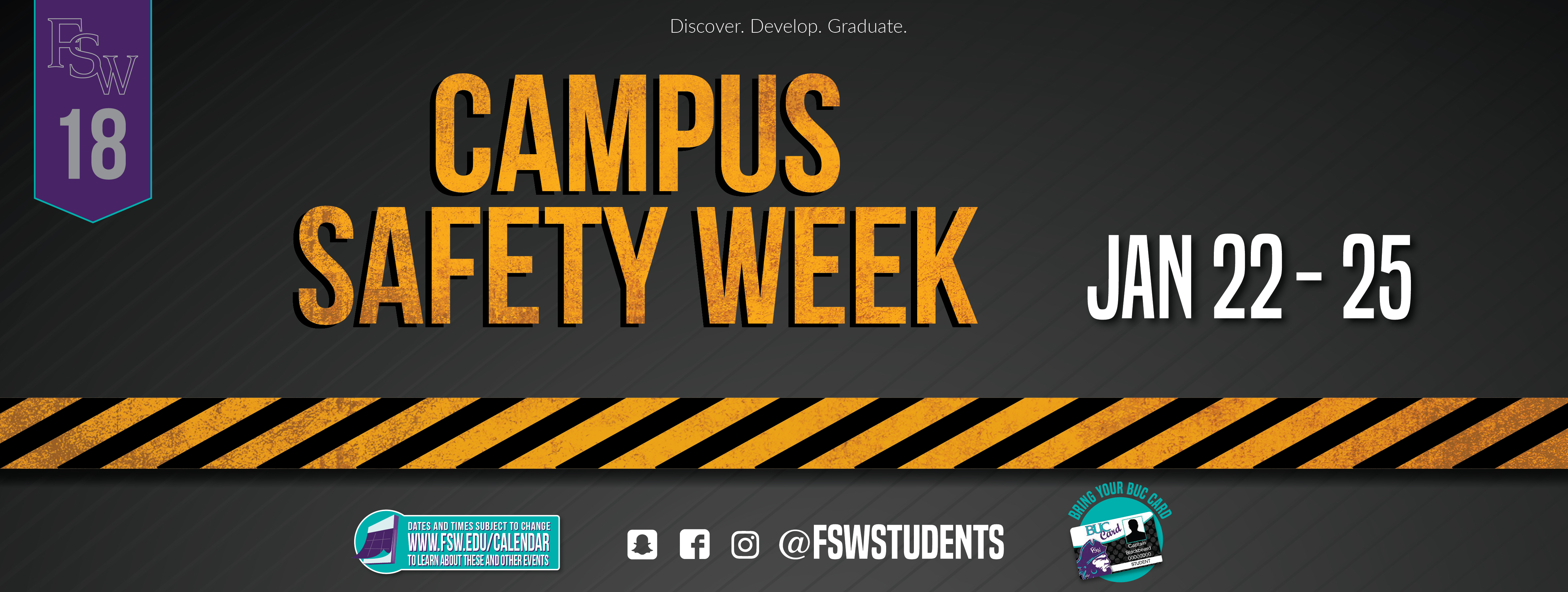 Campus Safety Week January 22-25, 2019