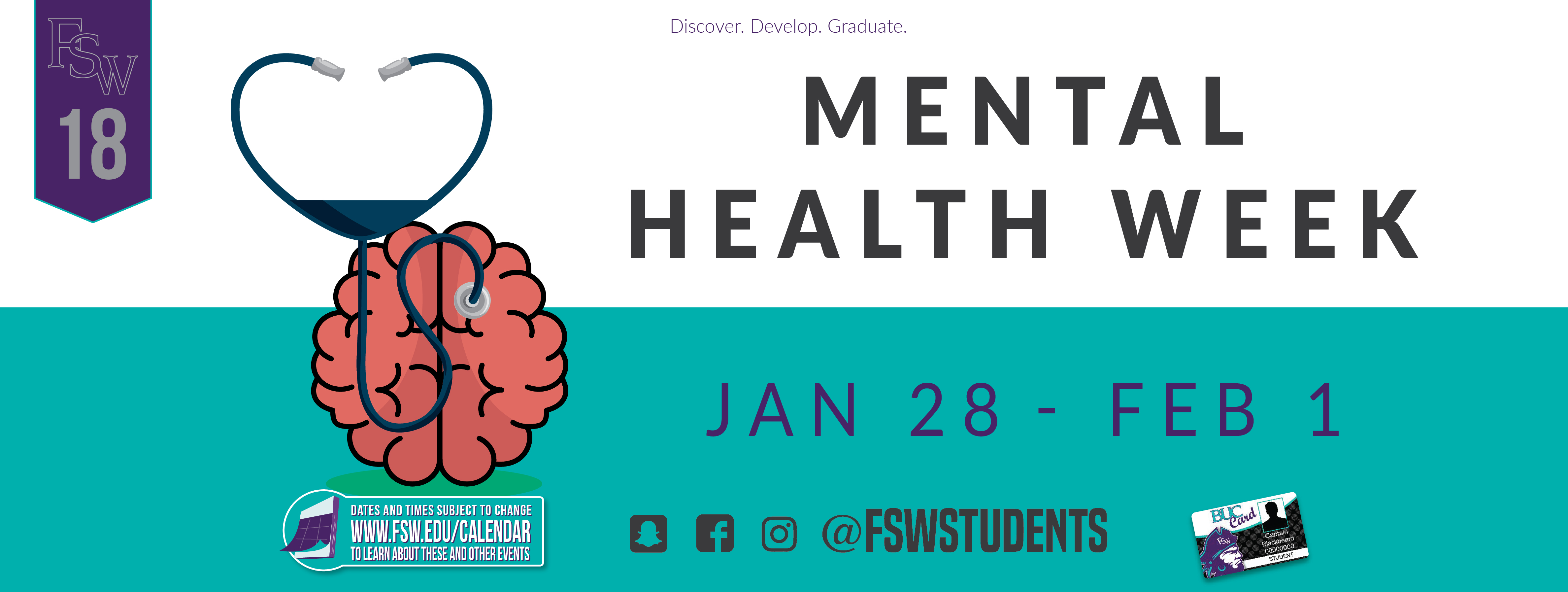 Mental Health Week January 28 - February 1, 2019