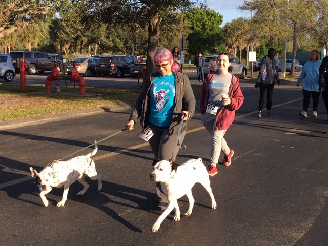 Bucs on the Run/Walk LiliGrutto-Mom-Dogs