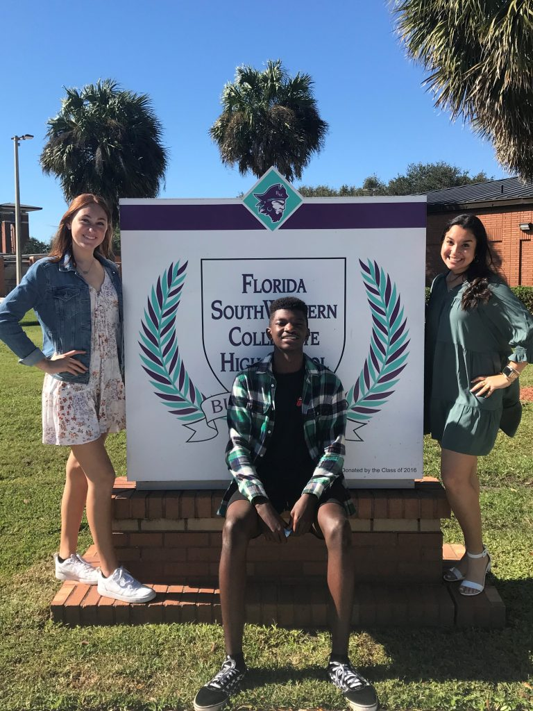 FSWC October Students of the Month Pictured left to right are: Kendall Carrico – Gr 9 Garssair Augustin – Gr 10 Nuha Jarrah – Gr 12 Not Pictured: Alyssa Truisi – Gr 11