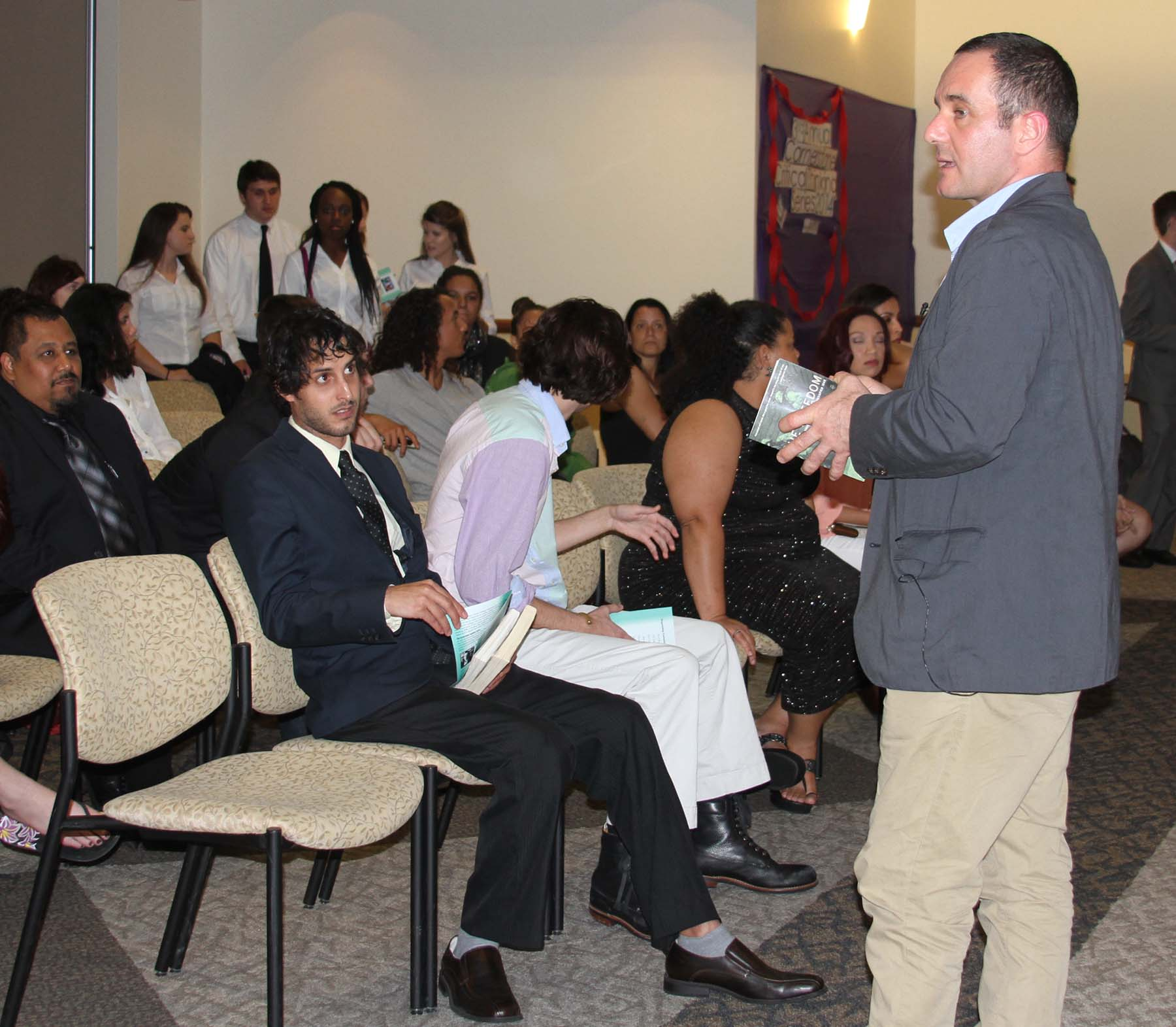 Dr Christian Parenti with FSW Students