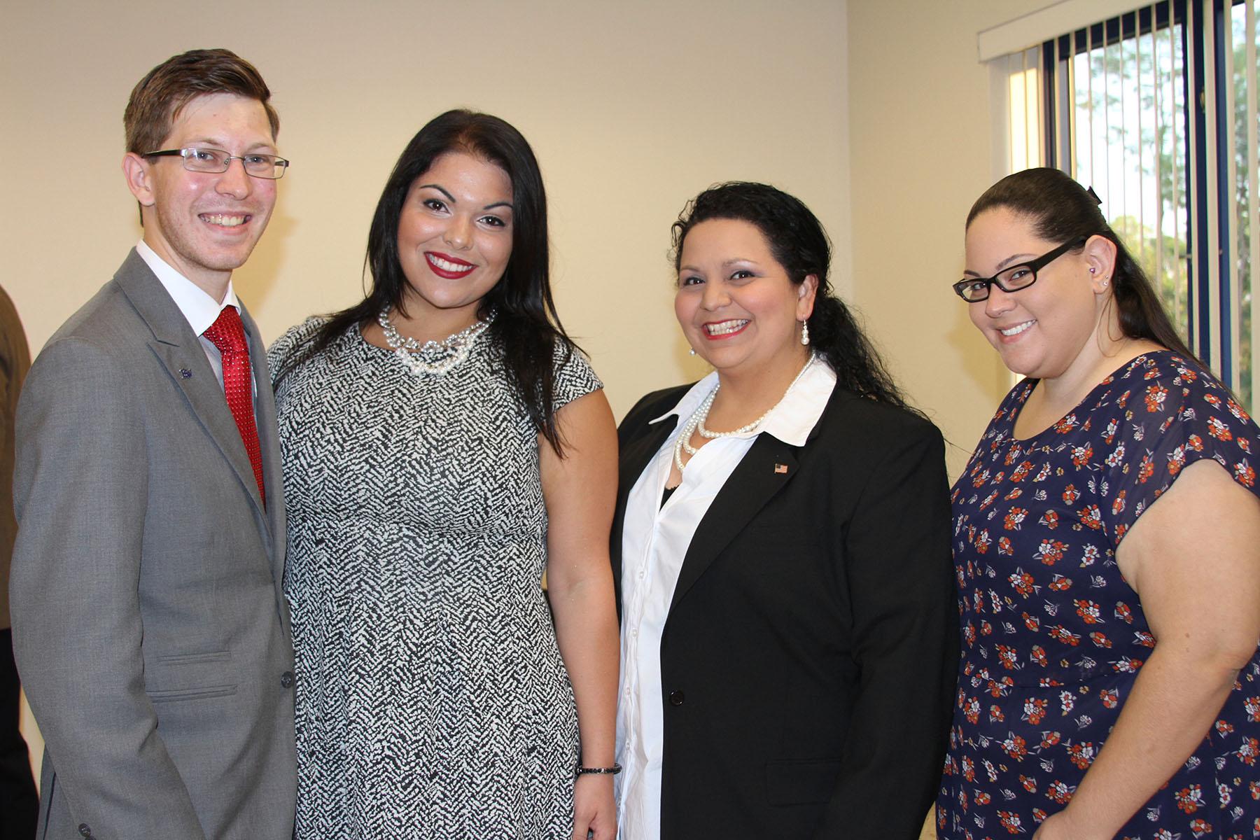 Jacob Winge, Jenny Sancho, Maria Herrera-Rodriguez, Rochelle Negron