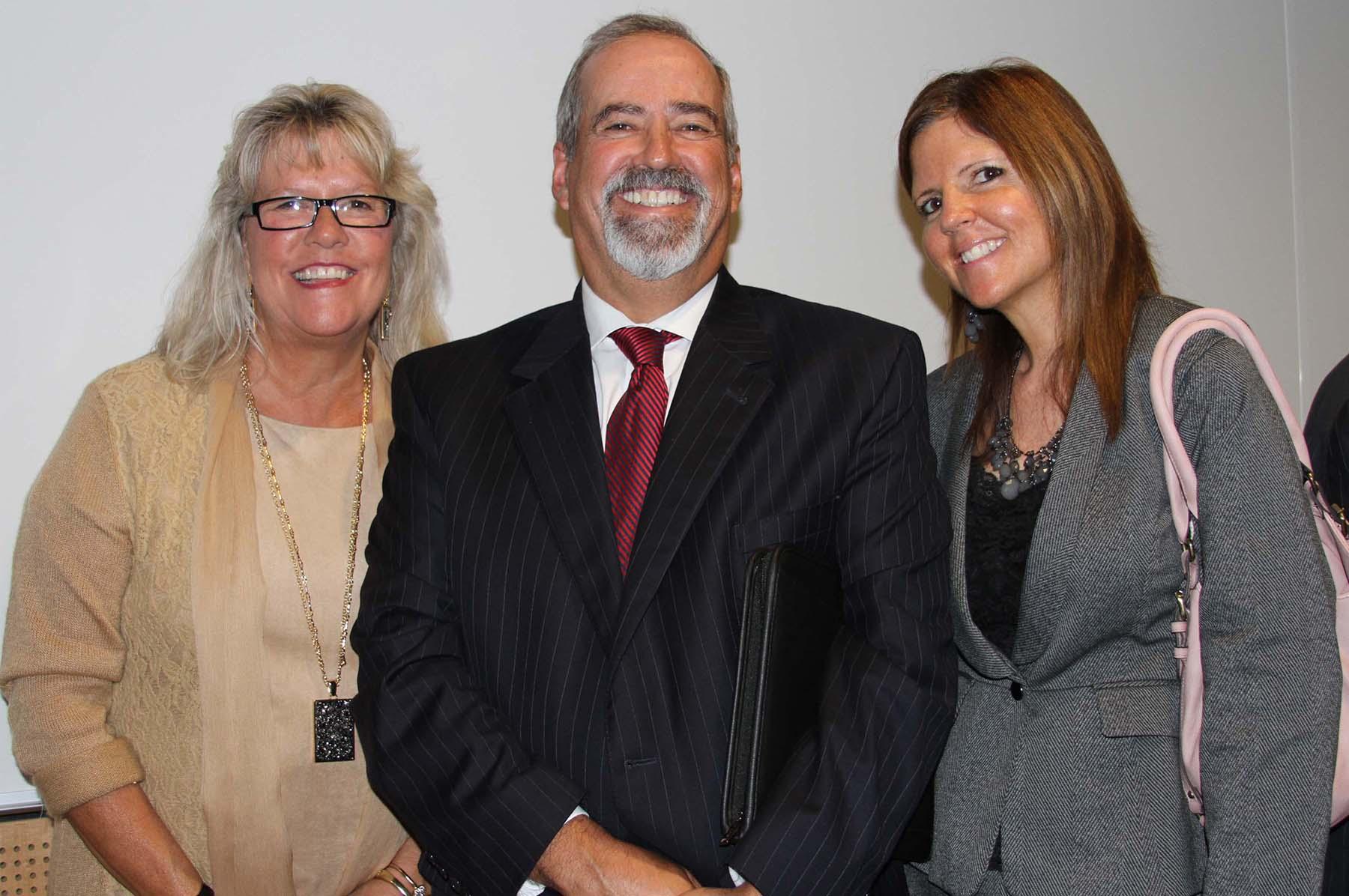 Kathy Clark, Dr. Denis Wright, Dr. Eileen DeLuca