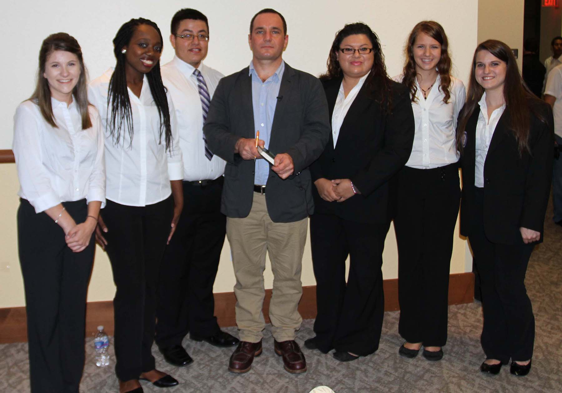 SGA Students with Dr. Christian Parenti